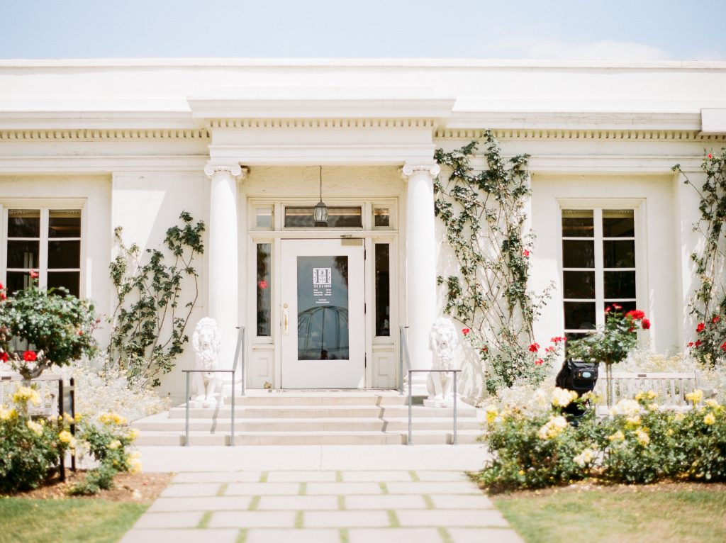 Neoclassical wedding venue photographed by Peony Park Photography
